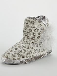 v-by-very-willow-fluffy-slipper-bootie-grey-leopard