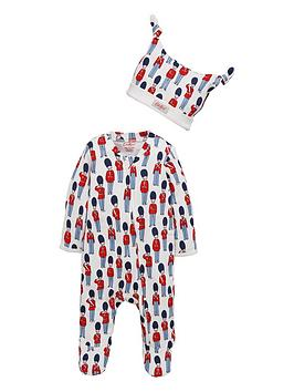 289dc2e9bba Cath Kidston Baby Boys Toy Guards Sleepsuit   Hat Gift Set ...