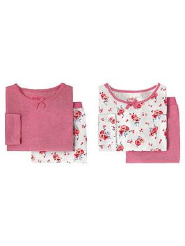 cath-kidston-girls-2-pack-pansies-floral-pyjamas-off-white