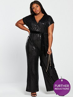 Black Plus Size Playsuits Jumpsuits Women Www