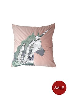 catherine-lansfield-sequin-unicorn-cushion