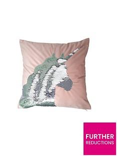 catherine-lansfield-sequin-unicorn-cushion