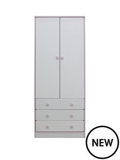 peyton-2-door-3-drawer-kids-wardrobe-whitepink
