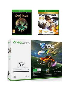 xbox-one-s-1tbnbspconsole-bundlenbspwith-rocket-league-sea-of-thieves-and-overwatch-plus-optional-extra-wireless-controller-andor-12-months-liveb-gold