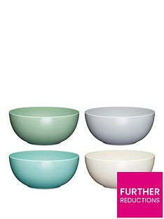 kitchencraft-colourworks-classic-ndash-set-of-4-melamine-bowls