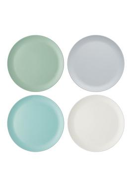 kitchencraft-colourworks-classic-ndash-set-of-4-melamine-dinner-plates
