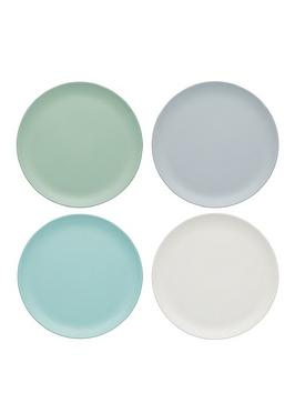 kitchencraft-colourworks-classic-ndash-set-of-4-melamine-side-plates