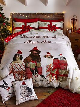 Catherine Lansfield Party Animals Christmas Duvet Cover Set Littlewoodsireland Ie