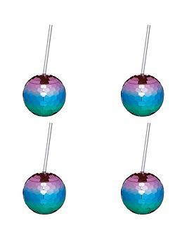 kitchencraft-barcraft-set-of-4-disco-drinks-ball-cocktail-cup
