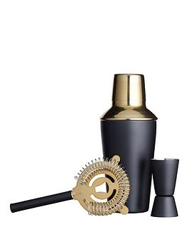 kitchencraft-barcraft-3-piece-black-and-brass-cocktail-making-set