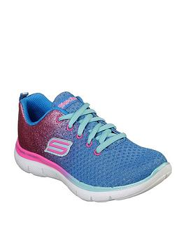 skechers-skechers-ombre-glitter-lace-up-trainer-with-memory-foam