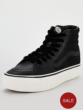 68e7a4e6cd Vans Snake Leather Sk8-hi Platform 2.0 - Black