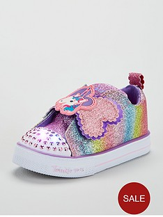 skechers-girlsnbsptwinkle-toesnbspshuffles-litenbspsparkle-pals-trainers-multi-coloured