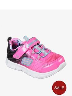 skechers-girlsnbspcomfy-flexnbspmini-dazzler-trainer-pink
