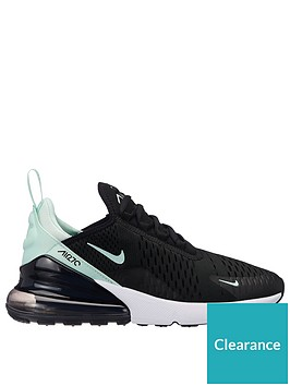 new product c2358 726c3 Nike Air Max 270 - Black Turquoise