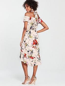 Ditsy Oasis Halter Bardot Oasis Dress Midi Placement Sale High Quality Discount Fake Outlet Cheapest Price WoE4csdUD