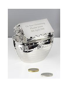personalised-silver-noahs-ark-money-box