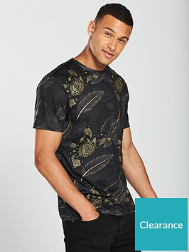 river-island-gold-feather-paisley-tee
