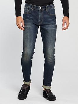 v-by-very-mens-tapered-fit-vintage-wash-jeans-dark-tint