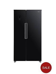 swan-sr15640b-total-no-frost-90cm-american-style-fridge-freezer-black
