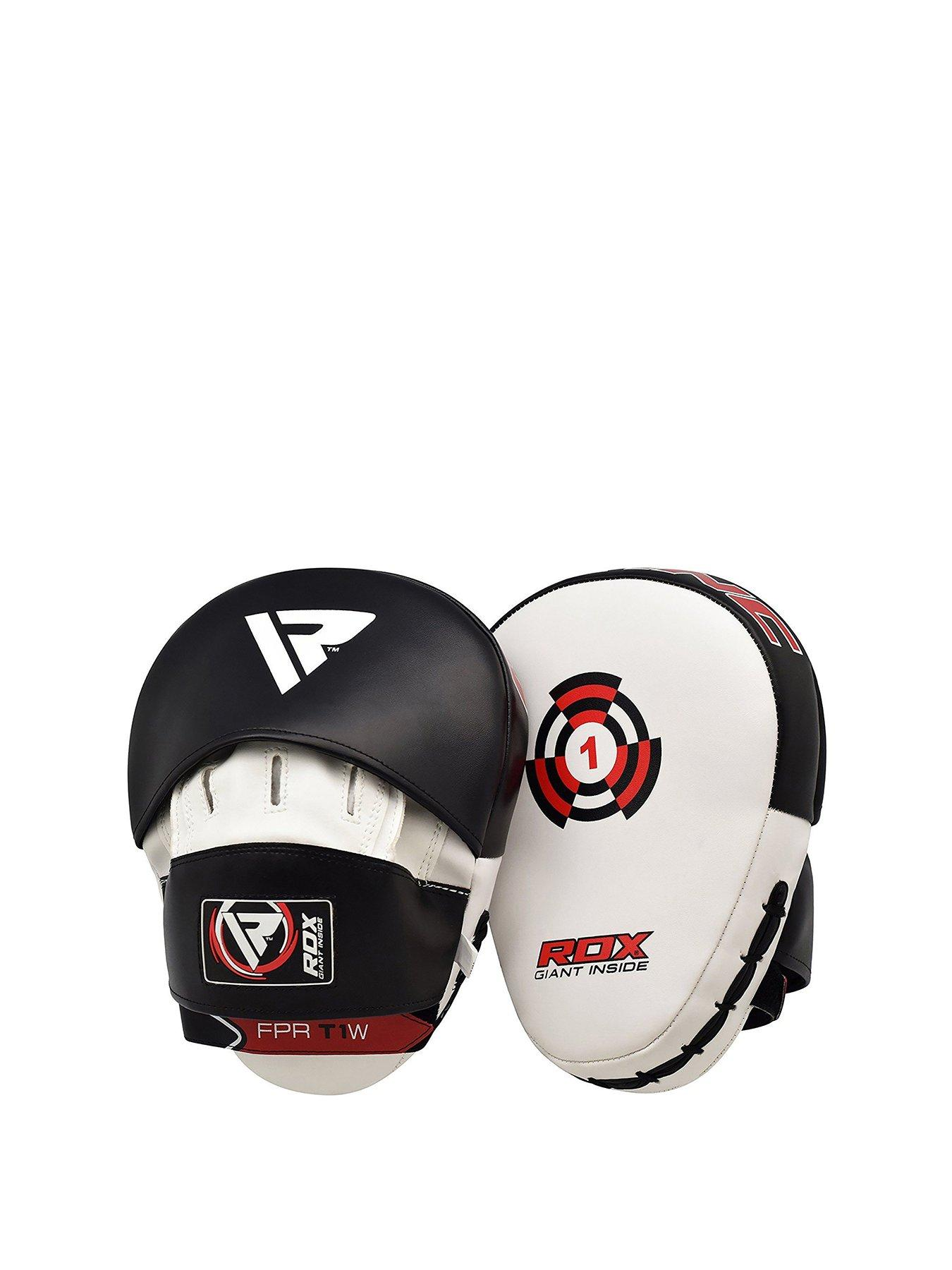 Lonsdale Jab Glove Pad Set Sports Leisure Synthetic Material Gloves Pads Boxing Black