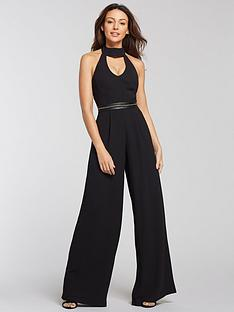 michelle-keegan-chain-detail-jumpsuit-black