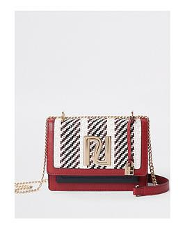 river-island-river-island-mixed-weave-satchel-bag--multi