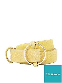 river-island-ring-detail-belt--yellow