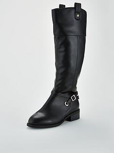 v-by-very-idra-buckle-trim-riding-boot-black