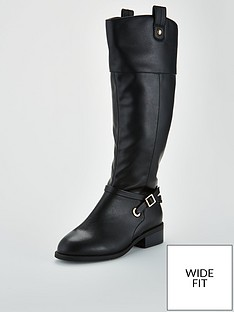 v-by-very-wide-fitnbspidra-buckle-trim-riding-boot-black