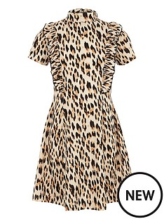 river-island-girls-brown-ruffle-leopard-print-dress