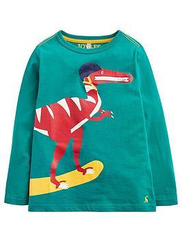 Joules Toddler Boys Zipadee Zip Pocket Dino T Shirt Green Littlewoodsireland Ie
