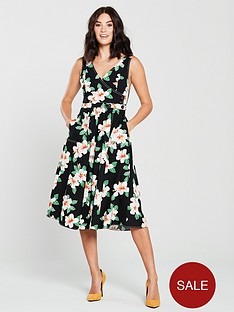 mango-gardenia-floral-midi-dress-black