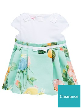 bc786d06c Baker by Ted Baker Baby Girls Rose Mockable Dress - Green ...
