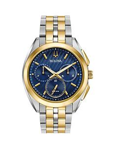 bulova-curv-blue-and-gold-chronograph-dial-two-tone-stainless-steel-bracelet-mens-watch