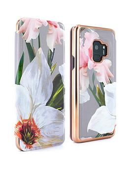 competitive price 2d568 8852c Ted Baker Mirror Folio Case (Samsung Galaxy S9) ¿ Chatsworth Bloom - MID  GREY