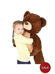 100cm-standing-dark-brown-bear