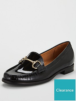 carvela-click-patent-loafer-black