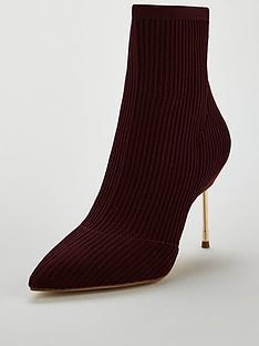 kurt-geiger-london-kurt-geiger-london-barbican-wine-fabric-knit-ankle-boot