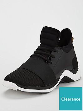 kurt-geiger-london-linfordnbsplow-top-trainer-black