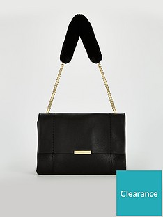 ted-baker-neliie-shearling-handle-shoulder-bag-black