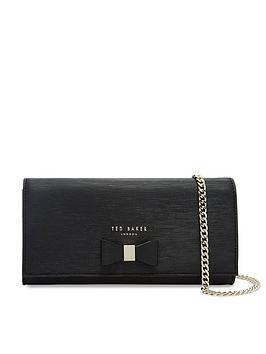 ted-baker-abriana-bow-detail-crossbody-matinee-purse-black