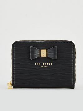 1f039c4110d3fd Ted Baker Aureole Textured Small Zip Purse - Black ...