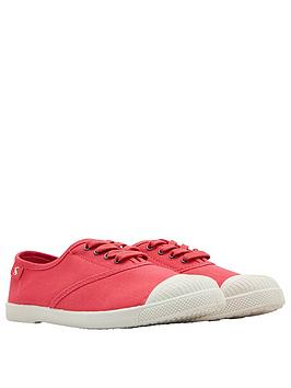 joules-sunley-plimsoll-coral-pink