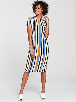 river-island-stripe-plisse-midi-dress