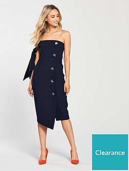 river-island-river-island-button-through-bodycon-dress-navy