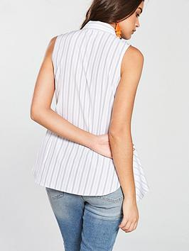 Blue Shirt Stripe Frill Island Front River River  Island Sale Shop Cheap Sale Clearance View Big Discount Online Get To Buy Sale Online xKvaMkDoVt