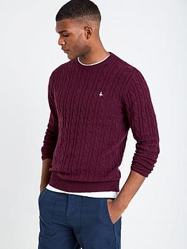 jack-wills-mens-marlow-cable-crew-jumper-damson