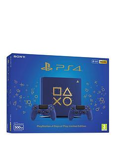 playstation-4-limited-edition-days-of-play-500gb-ps4-console-with-2-days-of-play-dualshock-4-controllers