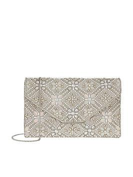 Accessorize  Palermo Clutch Envelope Silver Embellished Free Shipping Choice Clearance Store Cheap Price DvwoD96